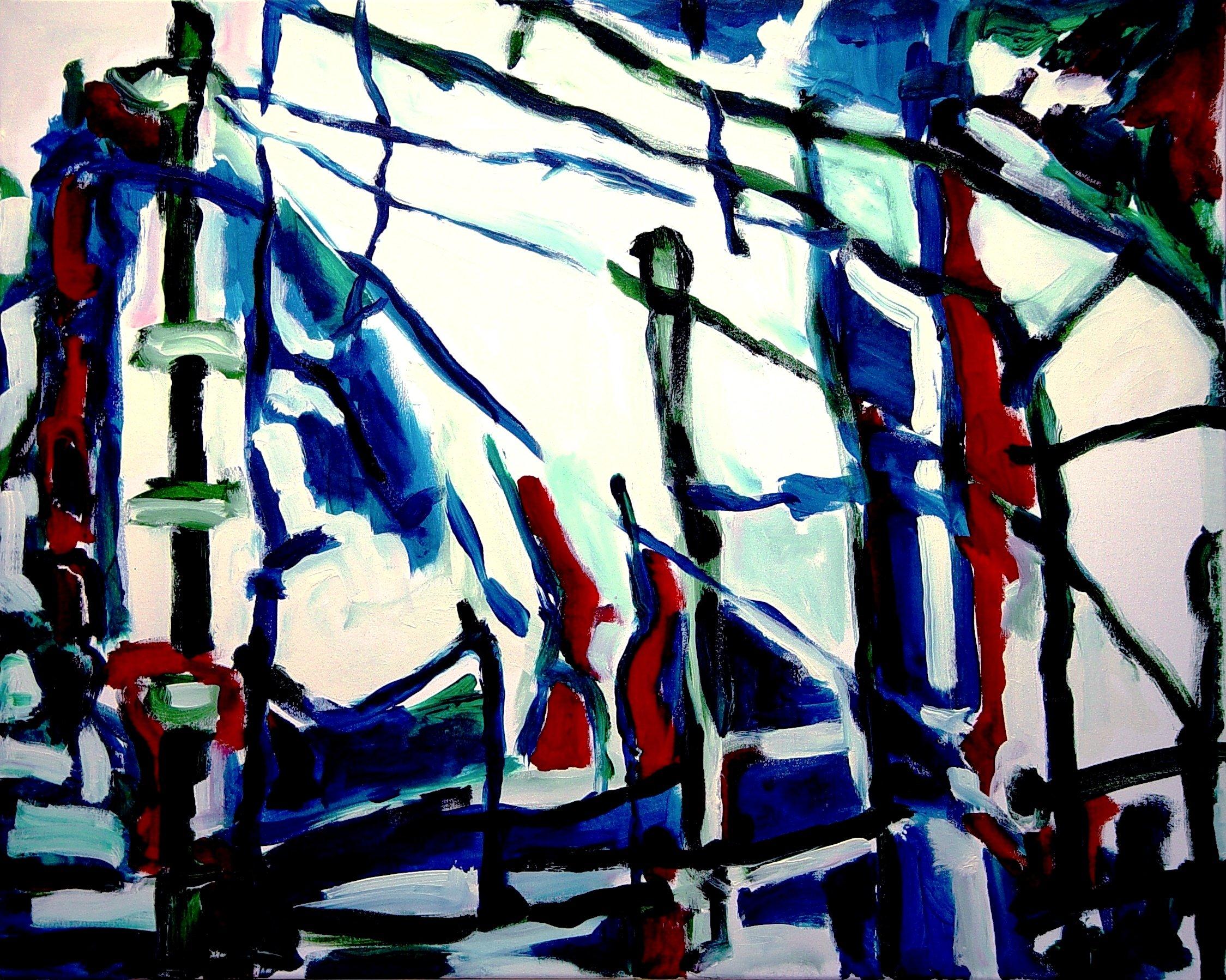 PerspektivWechsel, Acrylic on Canvas, 80cm x 100cm 2008