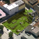 Luftbild Donaumarkt nachher. Grafik: Holger John.